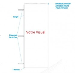 Pavillon pour mât mobile 95x300 cm