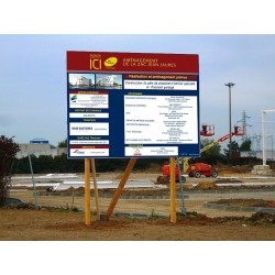 Panneau de chantier 300x400cm