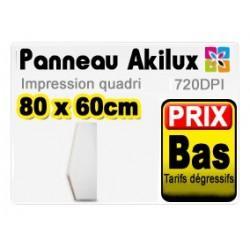 Panneau publicitaire akilux 80x60cm