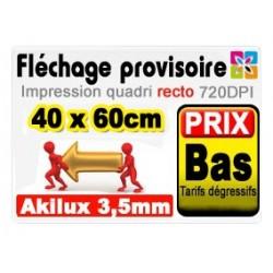 Fléchage akilux 40x60cm
