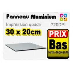 Panneau aluminium 30x20cm
