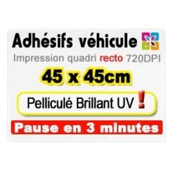 Adhésif véhicule 45x45cm
