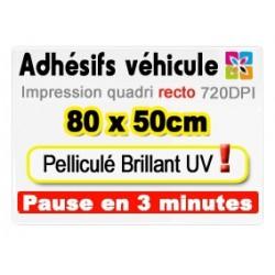 Adhésif véhicule 80x50cm