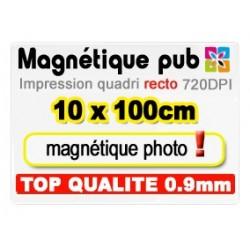 Magnétique publicitaire 10x100cm