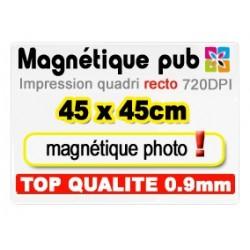 Magnétique publicitaire 45x45cm