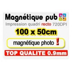 Magnétique publicitaire 100x50cm