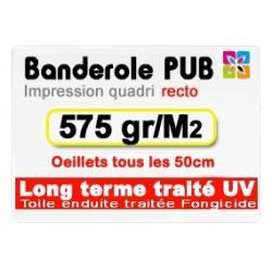 Banderole publicitaire 575 gr/m2 (Long terme)